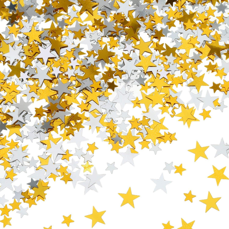 Confeti de Estrellas Plateadas y Doradas para Decoraciones de Fiesta ... cae89b362e4