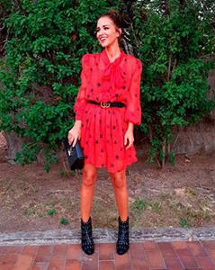 Paula Echevarria con vestido de estrellas